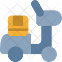 Vespa Delivery Courier Icon