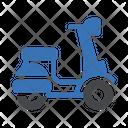 Vespa Bike Travel Icon