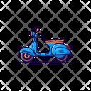 Vespa Motorcycle Motorbike Icon