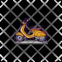 Vespa Motorcycle Transport Icon