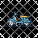 Vespa Vintage Motorbike Icon