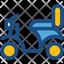 Vespa Scooter Motor Icon