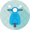 Scooter Motorcycle Vespa Icon