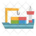 Vessel Ship Cargo Icon