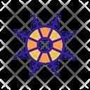 Vessel Steering Ship Icon