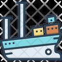 Vessel Cargo Ship Icon