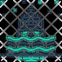 Vessel Transport Sea Icon