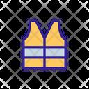 Vest Waistcoat Construction Icon