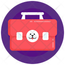 Dog Emergency Aid Veterinary Bag Dog Aid Box Icon