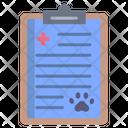 Veterinary Report Pet Report Health Report Icon