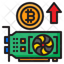 Bitcoin Cryptocurrency Vga Card Icon
