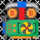 Bitcoin Cryptocurrency Vga Card Icon