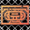 Vhs Cassette Tape Icon