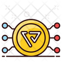 Vibe Coin Cryptocurrency Digital Currency Icon
