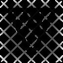 Vibrance Triangle Oscillation Icon