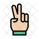 Victory Hand Sign Icon