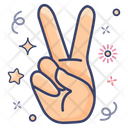 Victory Hand Gesture V Sign Icon