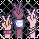 Peace Hand Human Icon