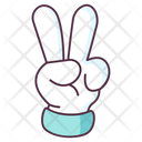 Victory Gesture Peace Symbol Hand Gesture Icon