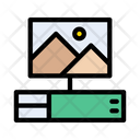 Video Game Monitor Icon