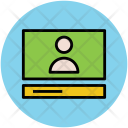 Video Calling Laptop Icon