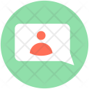 Video Message Conversation Icon