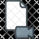Video Camera Paper Icon