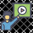 Video Conference Presentation Icon