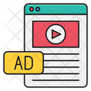 Video Ads Webpage Icon