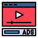 Video Advertisement Advertising Marketing Icon