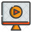 Video Advertising Play Button Icon