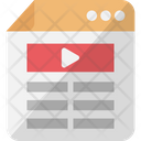 Video Blog Video Layout Video Template Icon