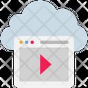 Cloud Computing Browser Icon