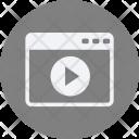 Video Websit Webpage Icon