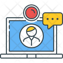 Video Call Conference Live Icon