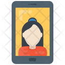 Video Call Message Icon