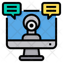 Video Call Webcam Chat Icon