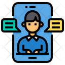 Video Call Smartphone Chat Icon