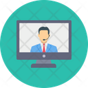 Video Call Meeting Icon