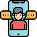 Mobile Online Communication Icon