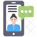 Mobile Chat Mobile Communication Mobile Conversation Icon