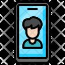 Video Call Medical Virus Icon