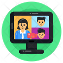 Online Call Internet Call Video Call Icon