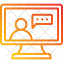 Video Call Conference Network Icon