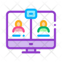 Video Conference Friendship Icon