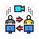 Video Calling Computer Icon