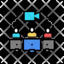 Human Communicate Video Icon