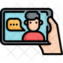 Tablet Communication Speaking Icon