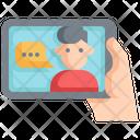 Tablet Media Communication Icon