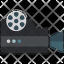 Video Camera Vintage Cinema Camera Projector Icon